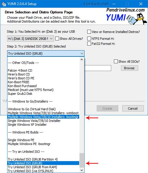 Yumi ile Bir tıkla multiboot hazırlayalım