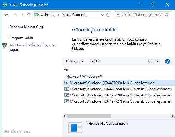 Windows10 1903 ilk güncellemesini aldı