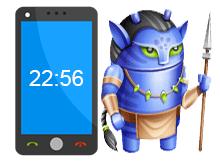 Android telefonda saat kayboldu