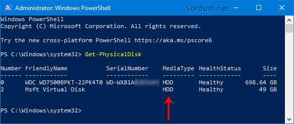 HDD mi SSD mi nasıl anlarım