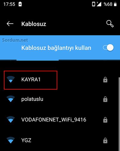 Kablosuz ismi