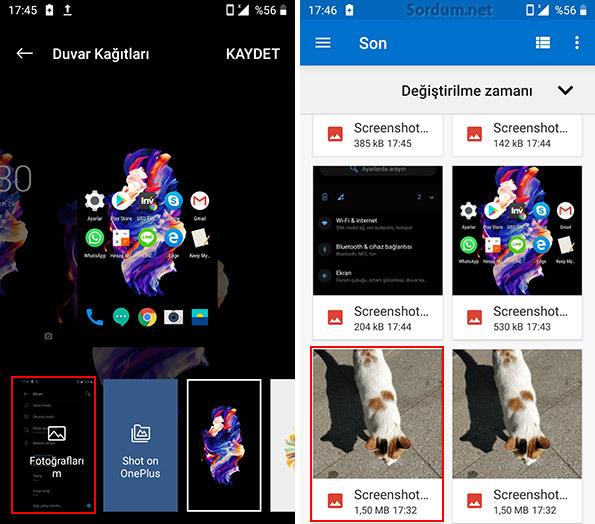 Android telefona duvar kağıdı seç