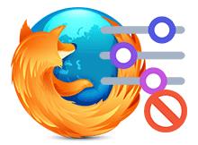 Firefox seçenekleri devre dışı