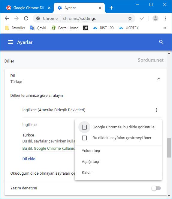 Google chrome yi bu dilde görüntüle