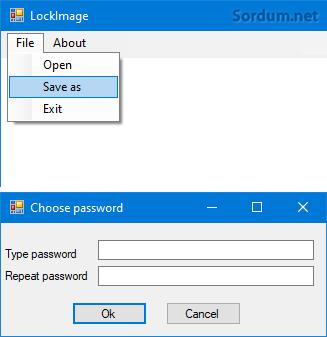 LockImage şifre ekranı