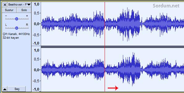 audacity ses dalgasını kaydır