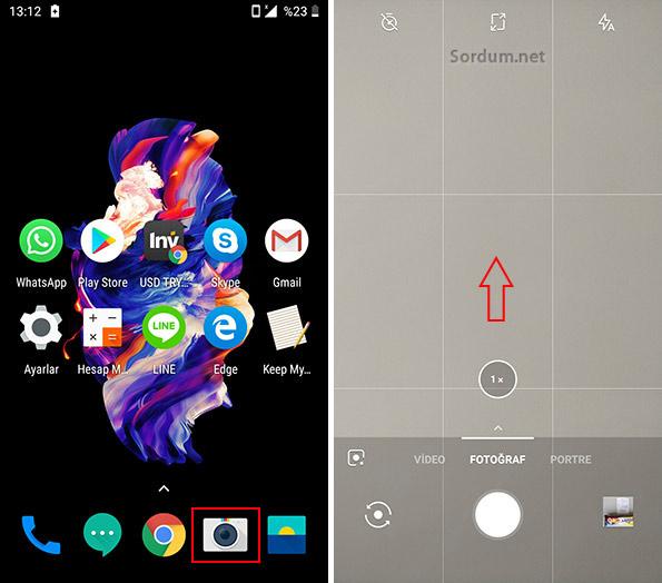 Android telefonda fotoğraf ayarları