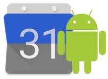 Google Android Takvimde koyu tema