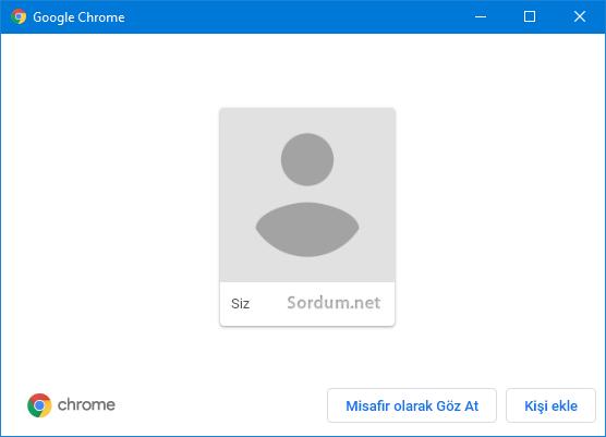 Chrome geçerli kullanıcı
