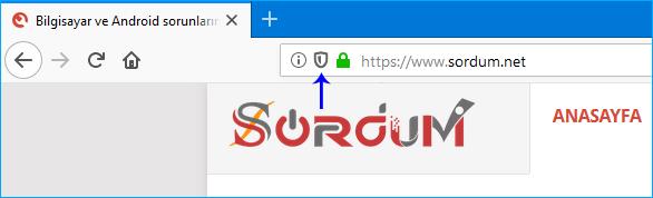 Firefox içerik engelleme özelliği
