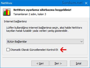 Networx otomatik olarak güncellemeleri kontrol et