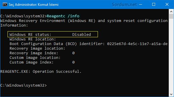 Windows Re status