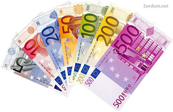 EURO kağıt banknot