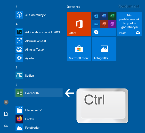 Exceli güvenli modda başlat