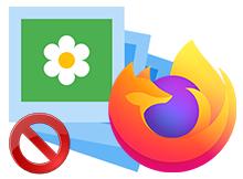 Bir tıkla Firefoxta resimleri engelleyin