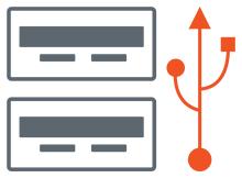 Usb bellek ikonu Dosya gezgininde çift görünüyor