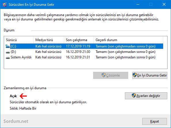 SSD de disk birleştirme