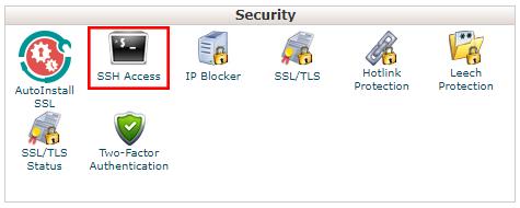 Host SSH ayarı