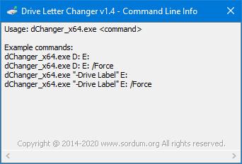 dchanger cmd parametreleri