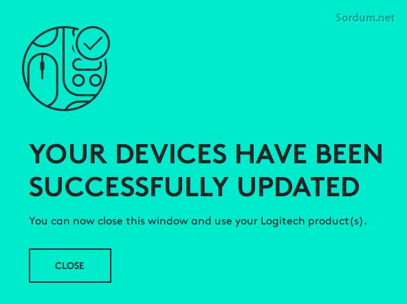 Logitech Firmware güncellemesi tamamlandı
