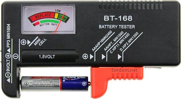 Pİl ölçer (Battery tester)