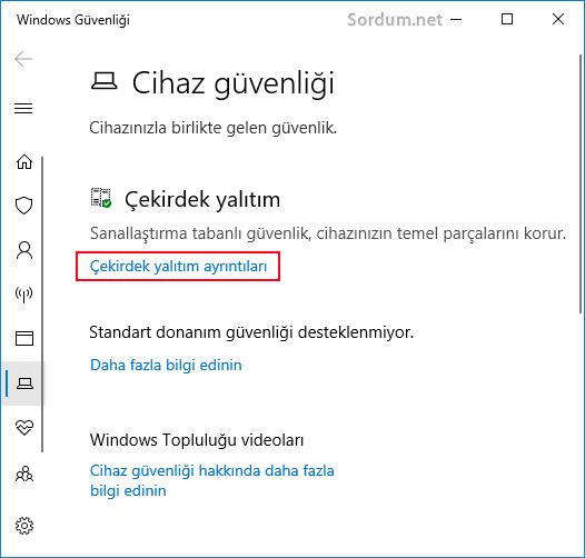Windows 10 cihaz güvenliği