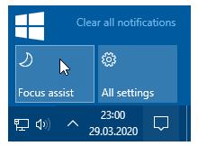 Windows 10 da İşlem merkezi hep açık kalsın