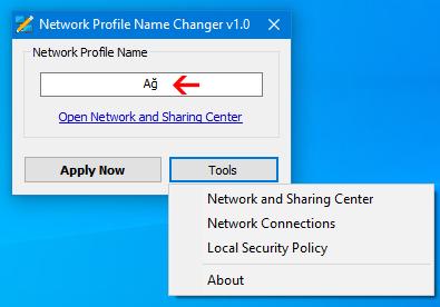 Network Profil Name changer