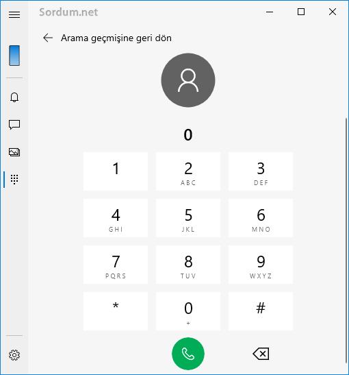 Bilgisayardan cep telefonu numarası Araması yap