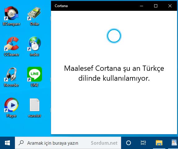 Cortana ayrı bir uygulama