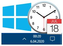 Windows 10 görev çubuğunda Haftanın günü yazssın