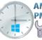 Windows saatinde öğleden önce ve sonra işareti