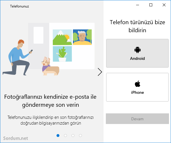 Windows 10 Telefon türü