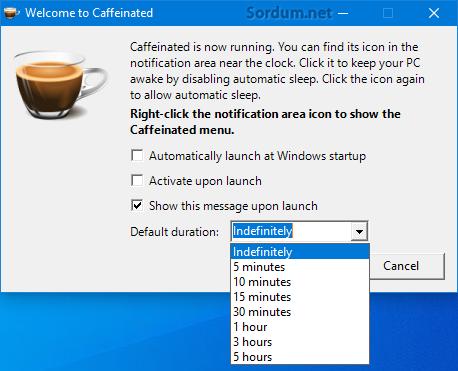 caffeinated programı