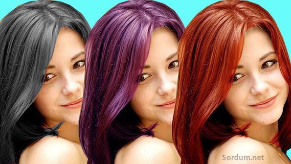 Photoshopta kolayca saç rengi değiştirdik