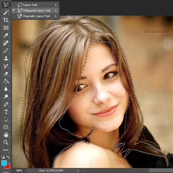 Photoshopta saç seçimi