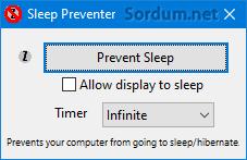 sleep prevent yazılımı