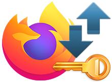Firefox ta Hesaplar ve Parolaları dışa veya içe aktar