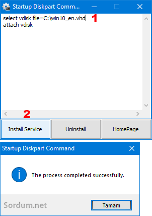 Startup diskpart Command
