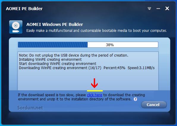 Windows PE USB belleği hazırlanıyor