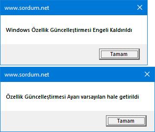 Vbs ile Windows güncelleme engelini kaldırın