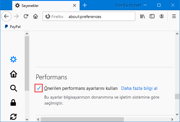 Firefox performans
