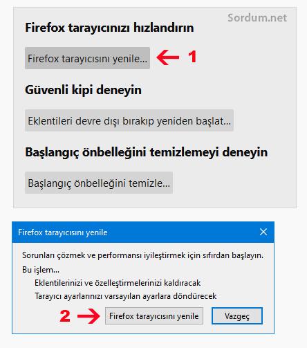 Firefox nasıl yenilenir