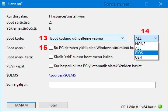 Winnt Boot menu