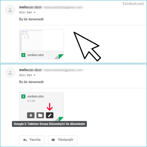 Gmail ile Ms Office eklerini görüntüleyin