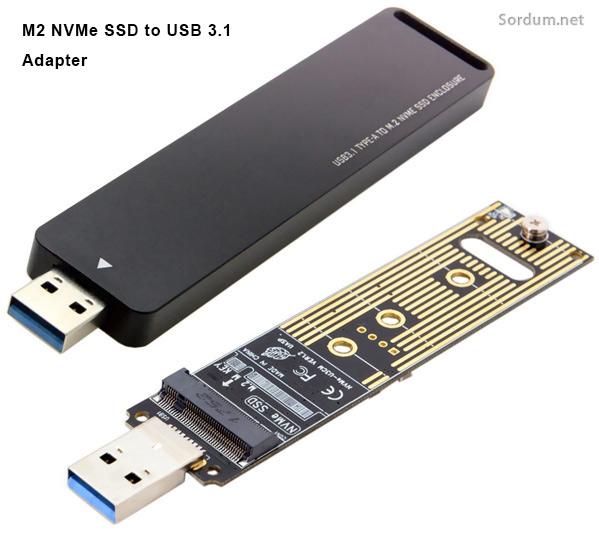 M2 NVMe USB 3.1 Dönüştürücü