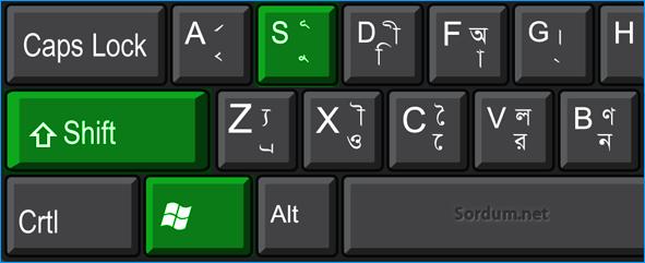 Ekran alıntısı klavye kısayolu