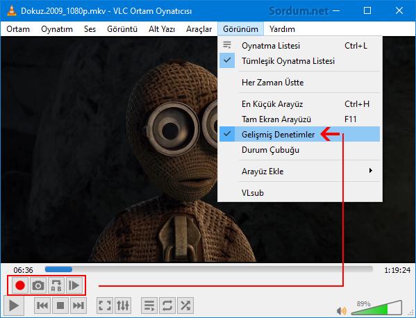 VLC ile video kaydet
