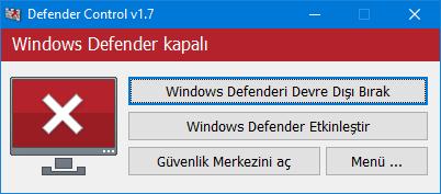 Windows defender çalışmıyor