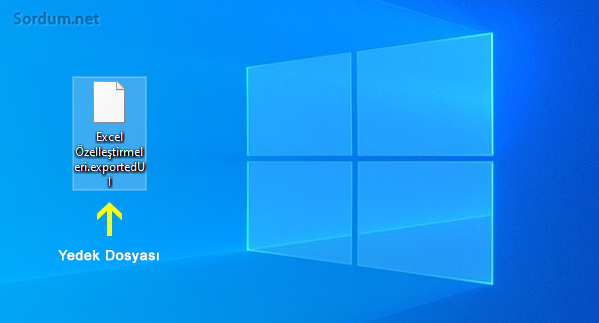 Microsoft office şerit ayarı yedeği